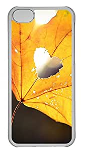 iPhone 5C Cases & Covers - Golden Autumn Leaves (love) Custom PC Soft Case Cover Protector for iPhone 5C - Transparent