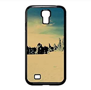 Sun Forests Nature Snow Watercolor style Cover Samsung Galaxy S4 I9500 Case (Winter Watercolor style Cover Samsung Galaxy S4 I9500 Case)