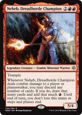 myyntipisteiden myynti super erikoisuuksia kuuma myynti Magic: The Gathering - Neheb, Dreadhorde Champion - War of The Spark