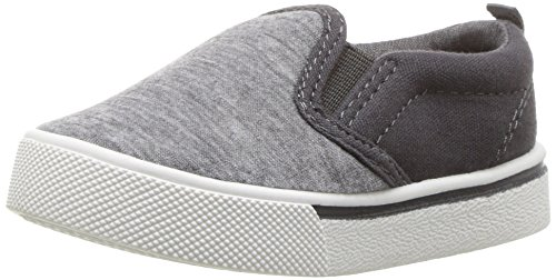 OshKosh B'Gosh Boys' Austin Sneaker, Charcoal, 5 M US Toddler