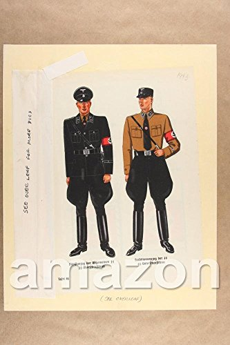Vintage Photo of GERMAN SOLDIER OUTFITS Magazine Page (LT328) (Soldiers Outfit)