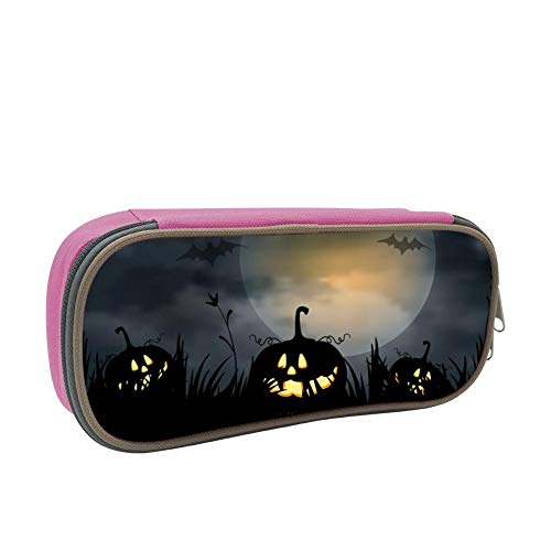 Pencil Case Black Night Pumpkin Pencil Box Organizer Large Capacity -