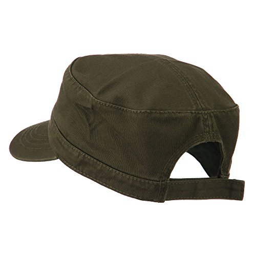 Cap Adjustable Garment - Otto Caps Garment Washed Adjustable Army Cap - Dk Olive Green OSFM