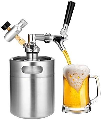 Mini Barril de Cerveza de Acero