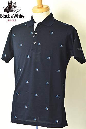 [ブラック&ホワイト] 半袖ポロシャツ トップス メンズ ゴルフ M ネイビー(30) B07Q7GXYCY