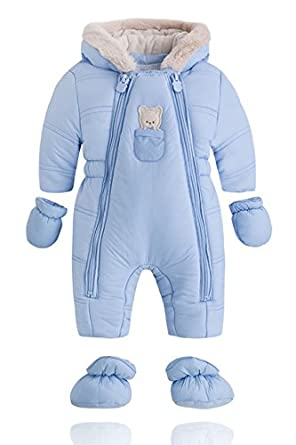 742f42d9f Amazon.com: Mayoral Newborn Boys Padded Snowsuit Blue: Clothing