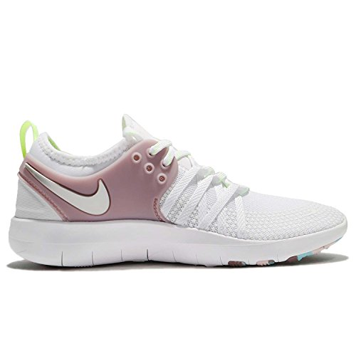 7 Women's Glow Volt WMNS 102 Rose Silver Metallic White White Nike Tr Free Trainers Elemental q4wvwITd