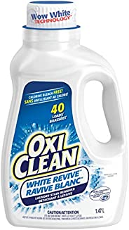 OxiClean White Revive Laundry Stain Remover Liquid, 1.47-L