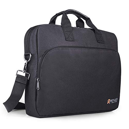 REYLEO Laptop Bag, 15.6 Inch Laptop Briefcase, Waterproof Travel Business Messenger Shoulder Bag with Luggage Strap for…