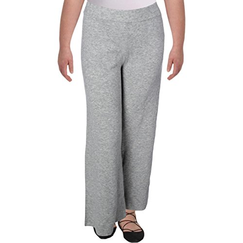 GUESS Womens Knit Wide-Leg Sweatpants Gray - Guess Is Designer