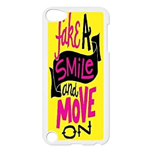 Bloomingbluerose Quote & Funny Quote Ipod Touch 5 Case Fake a Smile, {White}