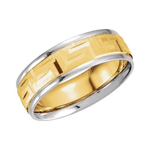 14kt Gold Greek Key Design - 2
