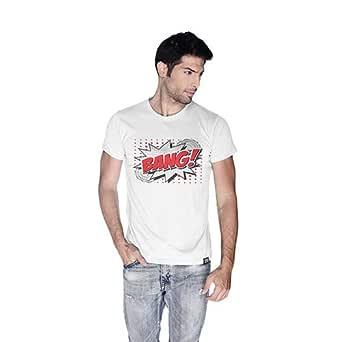 Creo Bang Retro T-Shirt For Men - M, White