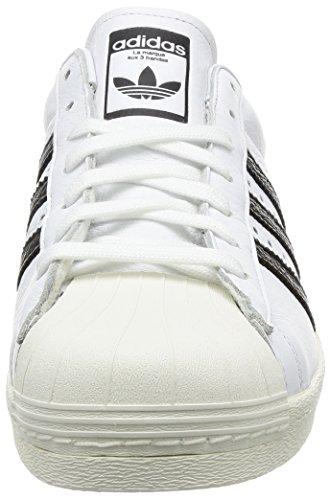 Adidas Mens Superstar, Bianco / Nero, 10 M Di Noi