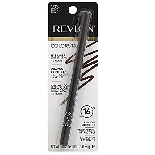 Revlon ColorStay Eyeliner Pencil, Brown [203], 0.01 oz (Pack of 2)