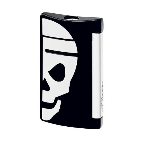 st-dupont-minijet-black-white-skull-lighter