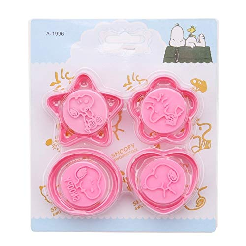 4 pcs/lot Plastic Cookie Cutters Cartoon Animal Dog Pattern Cake Decorating Tools Pastry Biscuit Mold Heart Star Shapes SLP148