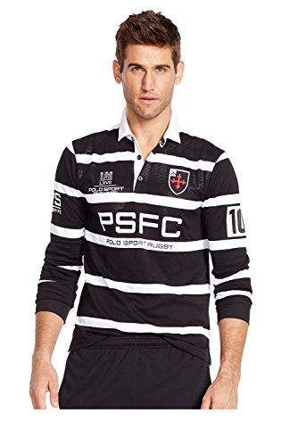Polo Sport Striped Micro Dot Rugby Shirt (XX-Large) by Polo