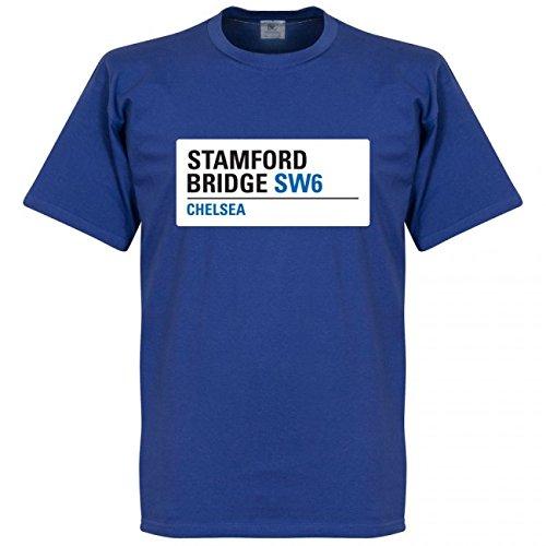 親密なパワー究極のRE-TAKE(リテイク) チェルシー Stamford Bridge Sign Tシャツ(ブルー)