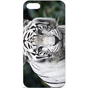 DIY Apple iPhone 5 Case Customized Gifts Personalized With Animals Female While Tiger Wide Birds Tigers Animals...