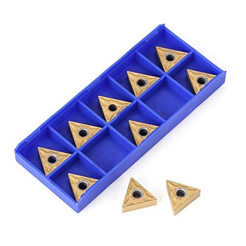 - Milling Cutter, 10pcs TNMG160404 Lathe Carbide Triangular Tips Inserts Milling Cutter - Gold