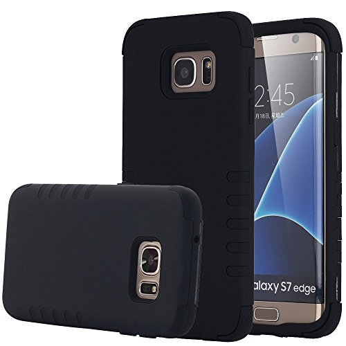 Shockproof Armor Case for Samsung Galaxy S7 Edge (Black) - 2