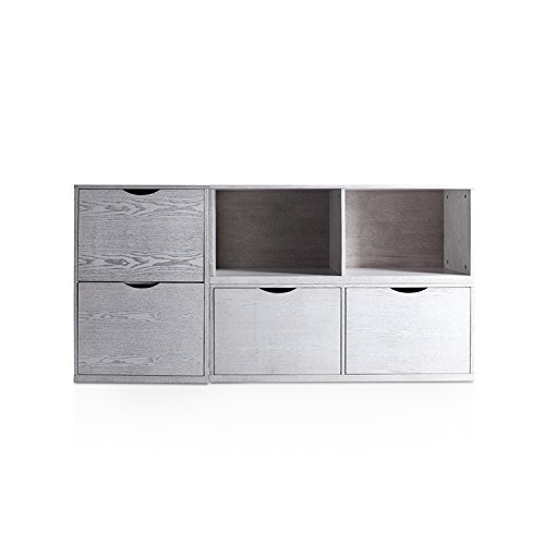 Haven Home Archer File Cabinets in White Wash with 4 Filing Drawers by Hives and Honey