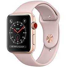 Apple watch series 3 Aluminum case Sport 38mm GPS + Cellular GSM unlocked (Gold Aluminum Case with Pink Sport Band)