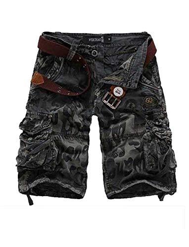 Moda Festivo Cargo Chino Outdoor Basic Sportivi Uomo Rauchfarben Da Pantaloncini Vintage Pantaloni Spiaggia Abbigliamento Esterno Corti Di 7q8xndBw6