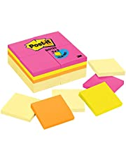 """Post-it Notes Original Sticky Notes, 3"""" x 3"""", 24 Pads, 90 Sheets/Pad, Canary Yellow & Cape Town Colours"""