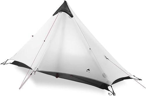 3F UL GEAR Lanshan 1 Tent Oudoor 1 Person Ultralight Camping Tent 3 Season Professional 15D Silnylon Rodless Tent