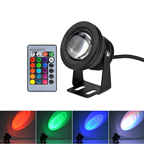 - Xligo AC DC 12v RGB led Underwater Light 10w IP67 Waterproof Aquarium Swimming Pool Spotlight Stainless car Lighting Fish Tank lamp