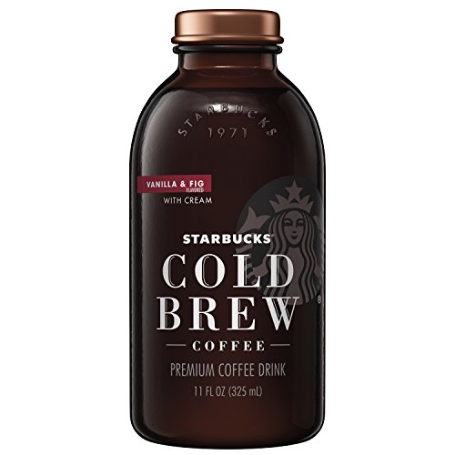 (Starbucks Cold Brew Coffee, Vanilla Fig & Cream, 11 oz Glass Bottles, 6 Count)