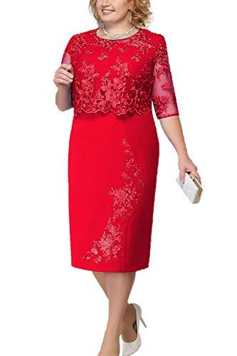 Mother Dresses,Mothers Dresses for Wedding,Wedding Short Dresses for Bride 2019 Red