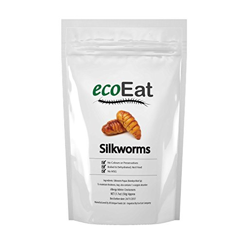ecoEat Edible Silkworm (Dehydrated) Insects - 50g ()