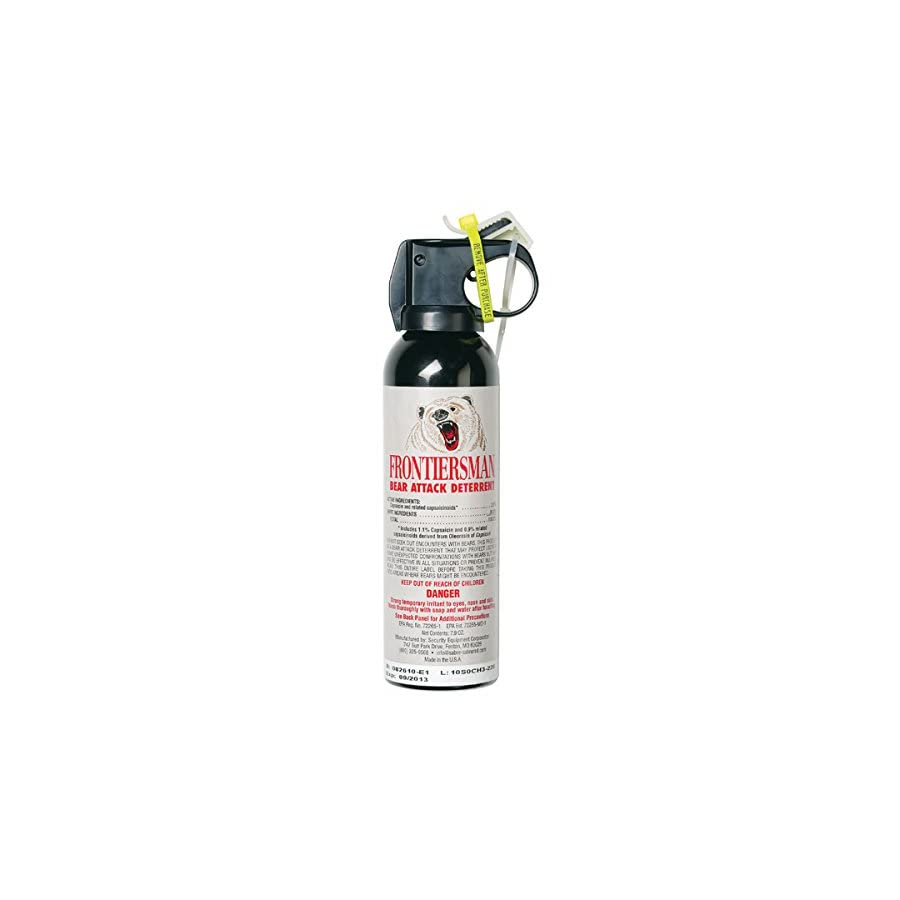 Frontiersman Bear Spray Maximum Strength & Maximum Range 35 Feet (9.2 oz) Or 30 Feet (7.9 oz)