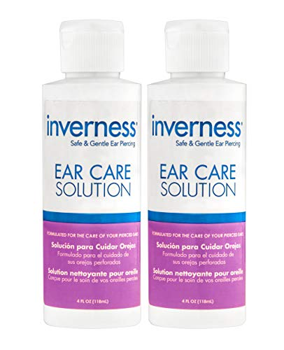 NEW Ear Care Solution 4 oz | After Piercing | Inverness | 2 PC SET