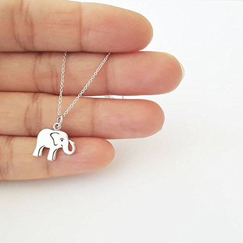 Sterling Silver Good Luck Elephant Charm Necklace