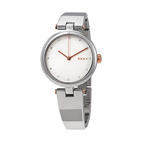 Dkny Womens Silver Dial - DKNY Eastside Quartz Silver Dial Stainless Steel Ladies Watch NY2745