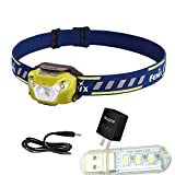 Fenix HL26R 450 Lumen Lightweight Rechargeable Multi-LED Headlamp with mini USB light,adapter (yellow)