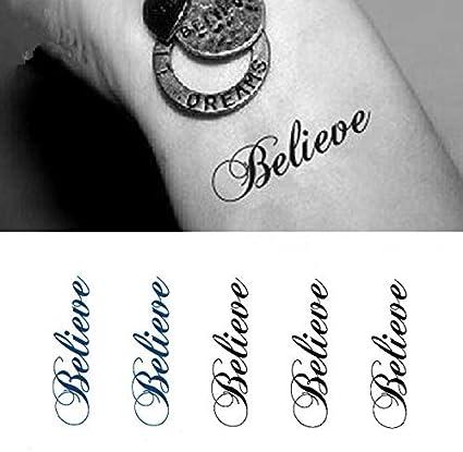 Etiqueta engomada del tatuaje temporal impermeable letra romana ...