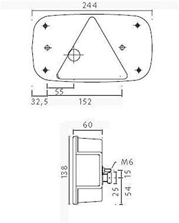 asp/öck Multi Point 5/l/ámpara izquierda derecha Set