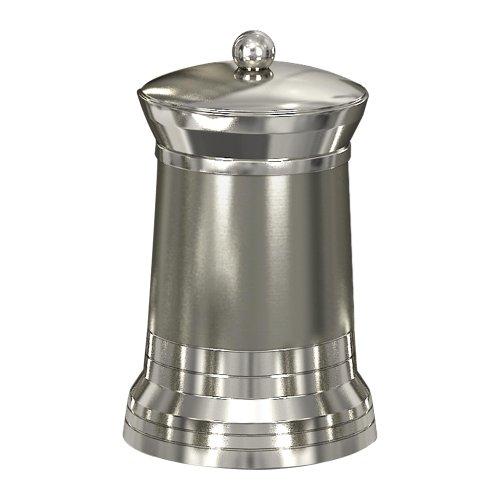 nu steel Lighthouse Q-tip Holder, Bathroom Vanity Metal Storage Organiser,Canister, Apothecary Jar for Cotton Swabs, Round Cotton Balls, Matt/Shiny Finish (Finish Matt Nickel)