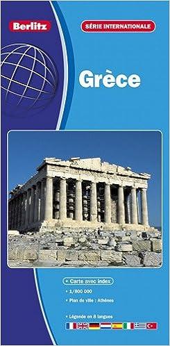Livres Grèce, carte routière et touristique (échelle : 1/800 000) - Plan du centre-ville d'Athènes. pdf epub