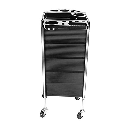 Beauty Salon Rolling Trolley Cart with 5 Drawers, Metal Holder, Rolling Wheels for Stylist Hairdresser, Beauty Furniture Hair Styling Storage Station Color Tray