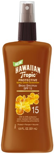 Hawaiian Tropic Sunscreen Protective Tanning Broad Spectrum