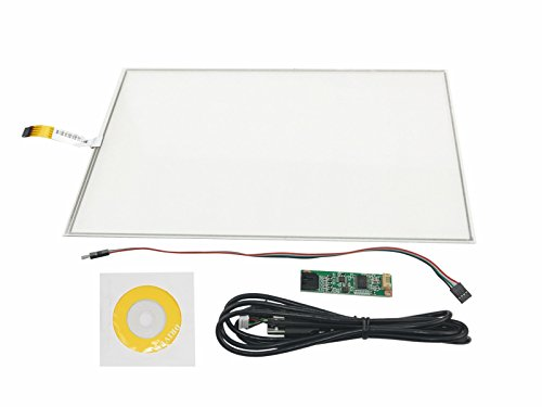 NJYTouch 17 Inch 4 Wire Resistive Touch Screen Panel Kit 355x288mm 4:3 for 17inch LCD TFT Monitor