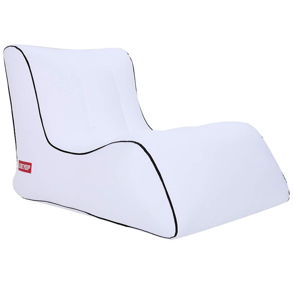blanc M Baisde Sofa Gonflable Canapé Gonflable ImperméAble à l'eau Durable LéGer Compact De Sofa Longue Confortable Fauteuil