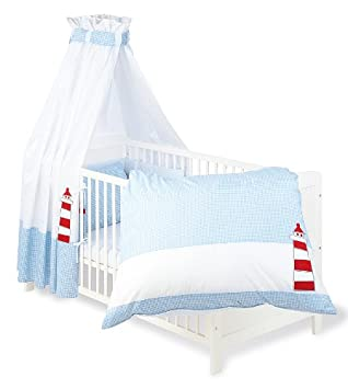 Kinderbett segelboot  Pinolino 60946-2 - Set für Kinderbett, 4-teilig 'Schiff Ahoi ...