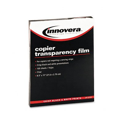 Innovera Copier Tranparency Film, Letter, Clear, 100/Box